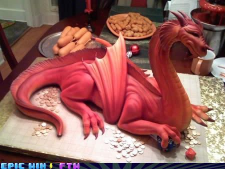 awesome photos  - Delicious Dragon Cake!